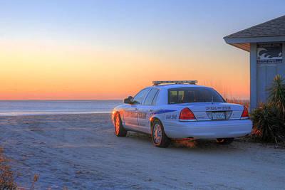 Patrol Cars Photograph - Tsunami Watch by JC Findley