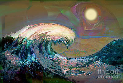Digital Art - Tsunami Wave by Ursula Freer
