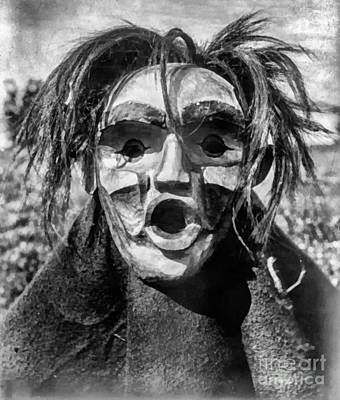 Indian Tribal Art Painting - Tsunukwalahl Qagyuhl Indian Mask by Vincent Monozlay