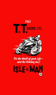 Harley Davidson Photograph - Tt Races Phone Case by Mark Rogan