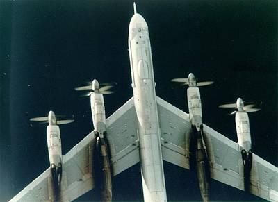 Socialist Mixed Media - Tu-95 Soviet Bomber Upsized Alot by L Brown