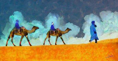 Fauna Painting - Tuareg by George Rossidis