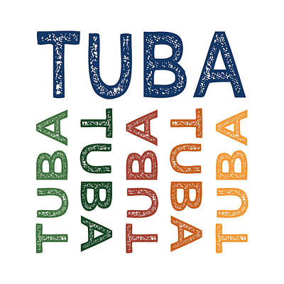 Tuba Cute Colorful Art Print