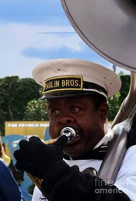 Marching Band Photograph - Tuba Player by Eva Kato
