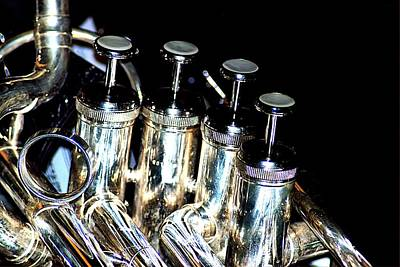 Photograph - Tuba Valves by Bob Wall