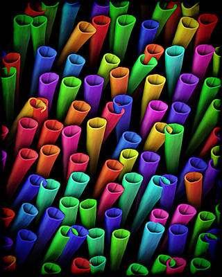 Digital Art - Tubes Of Color by Kurt Van Wagner