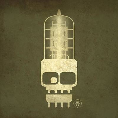 Digital Art - Tubeskull by Milton Thompson
