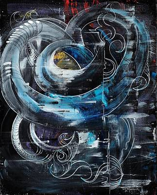 Painting - Tubular Chaos by Richard Mordecki