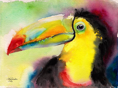 Toucan Drawing - Tucano by Isabel Salvador