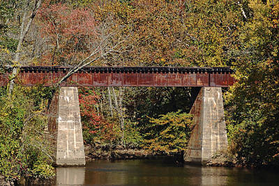 Photograph - Tuckahoe Railroad Bridge Up Close by Bill Swartwout Fine Art Photography