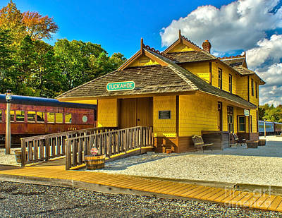 Photograph - Tuckahoe Train Station by Nick Zelinsky