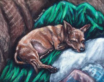 Quilts Drawing - Tuckered by Shana Rowe Jackson
