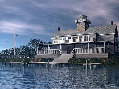 Digital Art - Tuckerton Seaport by John Pangia