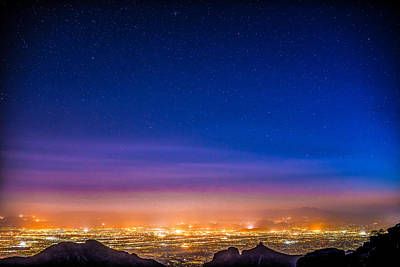 Desert Southwest Photograph - Tucson City Light At Night by Tod and Cynthia Grubbs