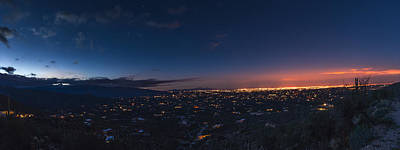 Photograph - Tucson's Twilight Apex by Chris Bordeleau