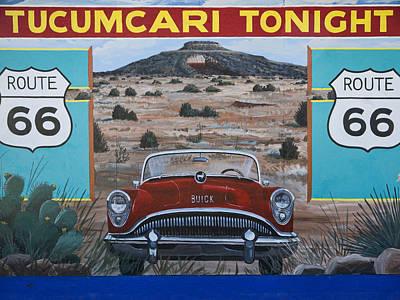 Mural Photograph - Tucumcari Tonight Mural On Route 66 by Carol Leigh