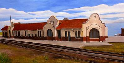 Art Print featuring the painting Tucumcari Train Depot by Sheri Keith