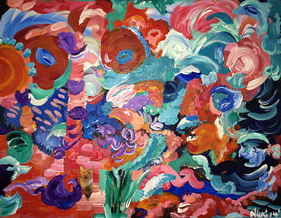 Painting - Tuddy Leaves Earth by Nicki La Rosa