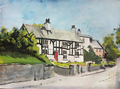Painting - Tudor Cottage Cheshire England by Michelle Deyna-Hayward