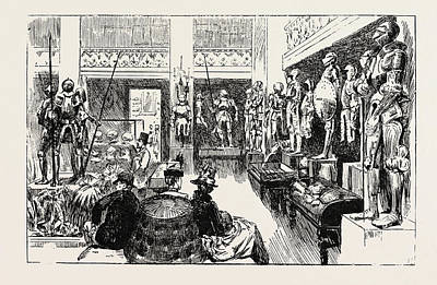 Seventeenth Century Drawing - Tudor  Exhibition. The Display by English School