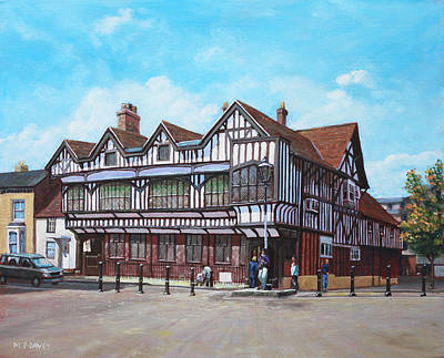 Painting - Tudor House Southampton Hampshire by Martin Davey