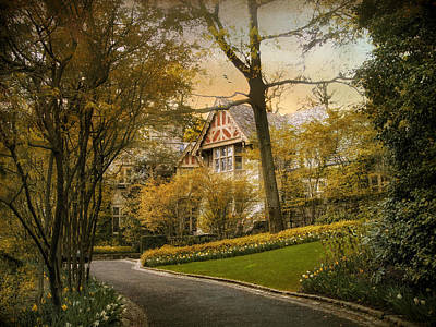 Driveway Photograph - Tudor In Spring by Jessica Jenney