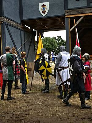 Red Photograph - Tudor Knights In Armor  V2 by John Straton