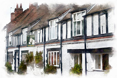 Guesthouse Painting - Tudor Buildings by Hoetmer Art
