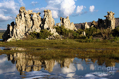 Photograph - Tufa And Cloud Reflections by Adam Jewell