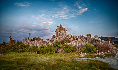 Photograph - Tufa And Clouds by Cat Connor