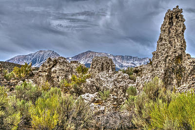 Photograph - Tufa Mono Lake Area by SC Heffner