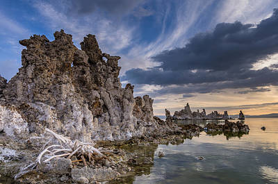Photograph - Tufas And Clouds by Greg Nyquist