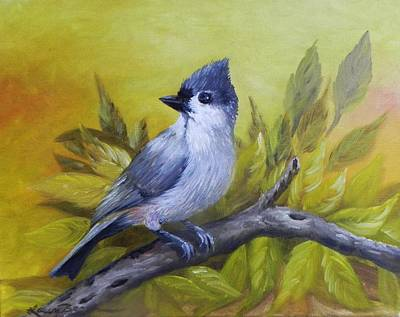 Tufted Titmouse Painting - Tufted Titmouse by Laura Brown