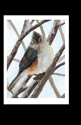 Tufted Titmouse Painting - Tufted Titmouse by YeshuasChildArt Studio