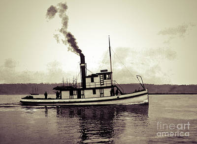 Photograph - Tug Boat Echo Underway 1908 by Joe Jeffers