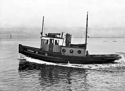 Photograph - Tug Boat Virginia 1930 by Vibert Jeffers