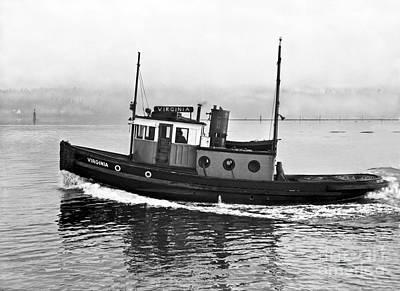 Photograph - Tug Boat Virginia 1930 by Vibert Jeffers