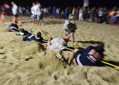 Photograph - Mid-atlantic Lifeguard Competition - Tug Of War  by Kim Bemis