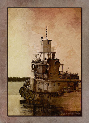 Photograph - Tug by WB Johnston