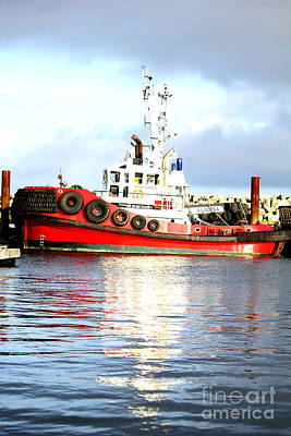Artist Working Photograph - Tugboat Captain by Alanna DPhoto