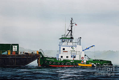 Tugboat Emmett Foss Original by James Williamson