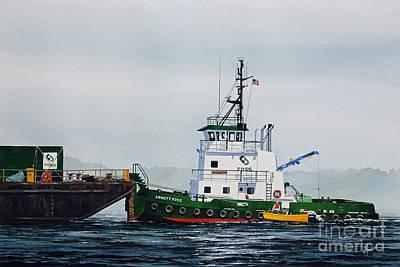 Shipyard Painting - Tugboat Emmett Foss by James Williamson