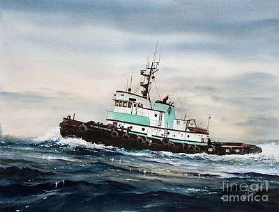 Tugboat Wall Art - Painting - Tugboat Island Champion by James Williamson