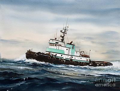 Tugboat Island Champion Art Print by James Williamson