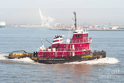 Photograph - Tugboat Justine Mcallister by Clarence Holmes