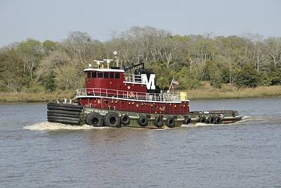 Photograph - Tugboat On The Savannah River by Bradford Martin