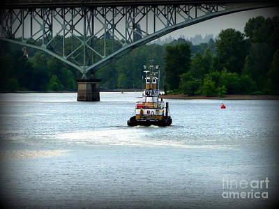 Photograph - Tugboat River Journey by Susan Garren