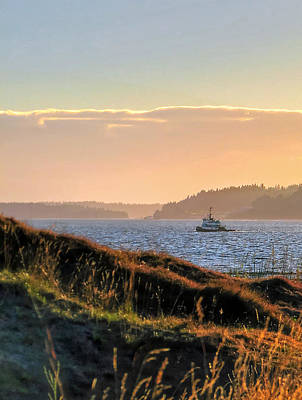 Photograph - Tugboat Twilight - Chambers Bay Golf Course by Chris Anderson