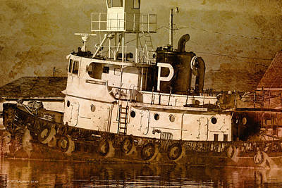 Photograph - Tugboat by WB Johnston