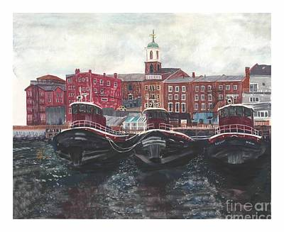 Tugboats Of Portsmouth Art Print
